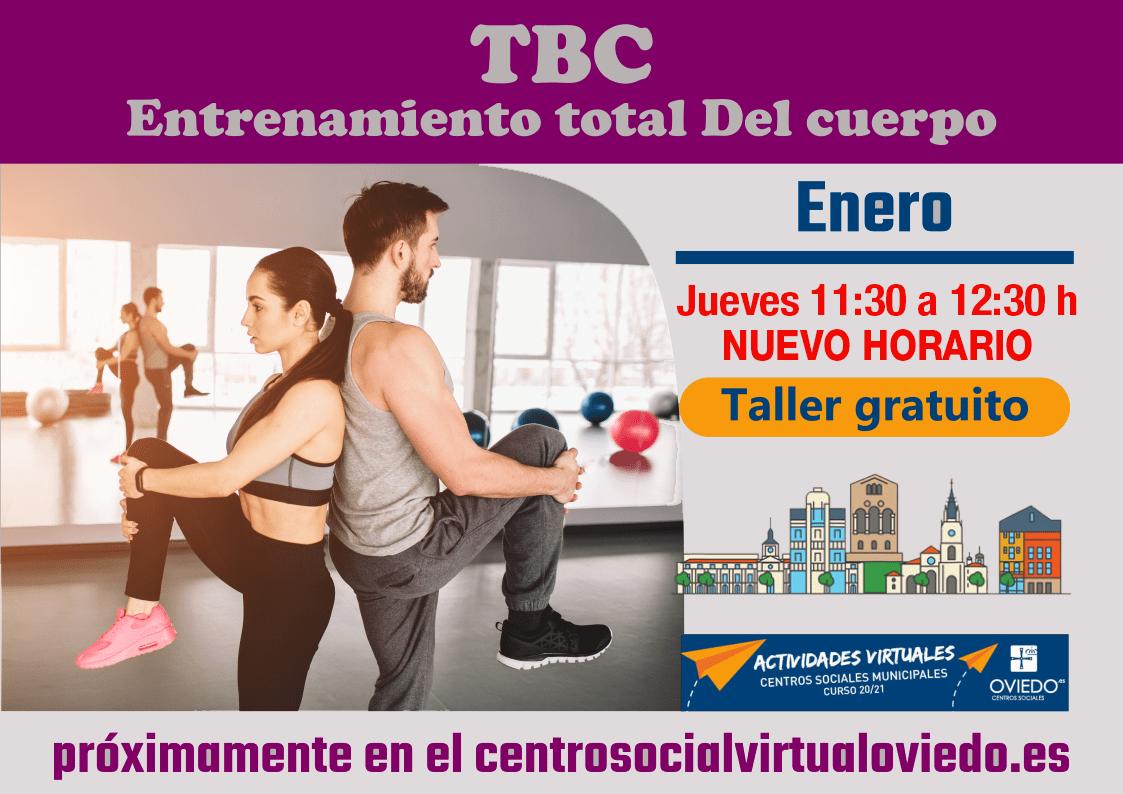 TBC TRABAJO CORPORAL TOTAL Nuevo Horario