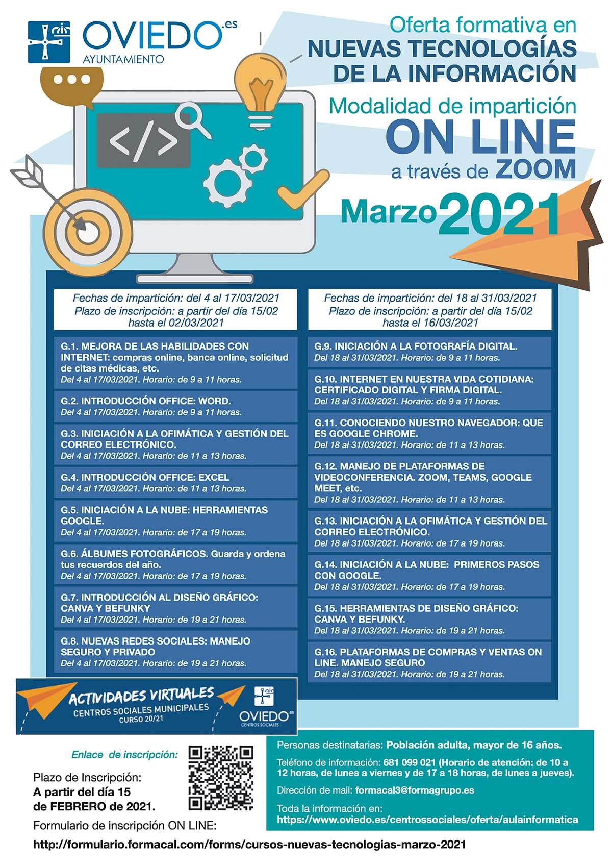 Cartel 2021 ONLINE Marzo