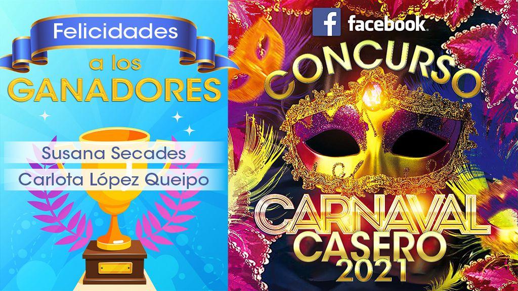 """Ganadores del Concurso """"CARNAVAL CASERO 2021: disfrázate en casa"""""""