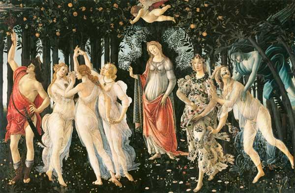 LA PRIMAVERA De Botticelli