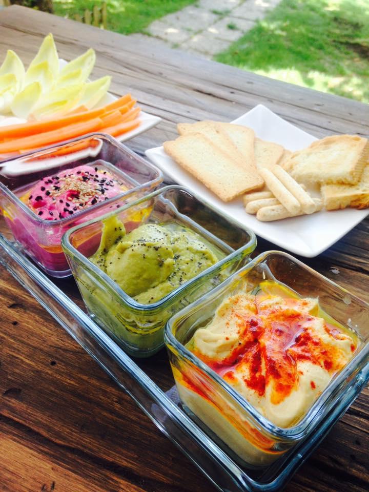 Hummus Verde Con Guisantes Y Pimientos